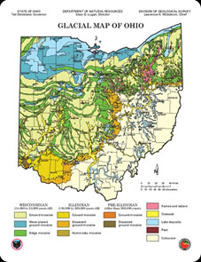 Geography Map Of Ohio.History From The Ohio Hills