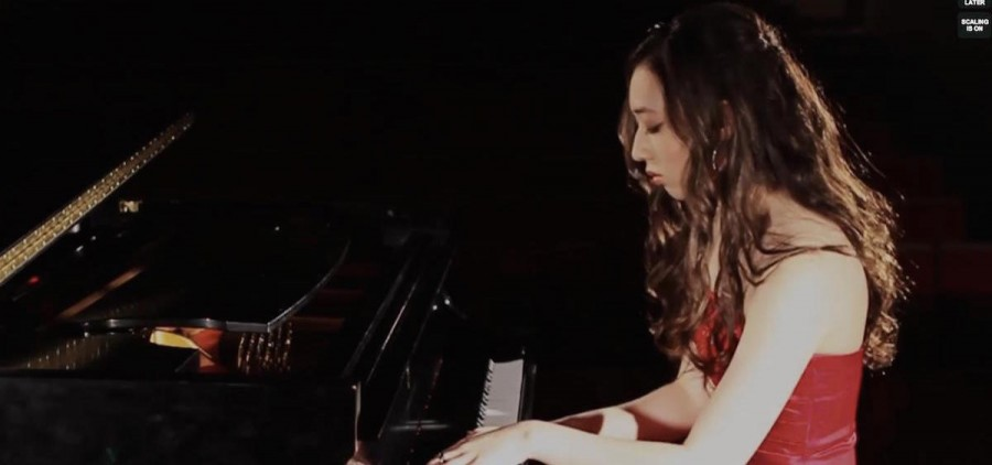 Mindy Braasch at piano