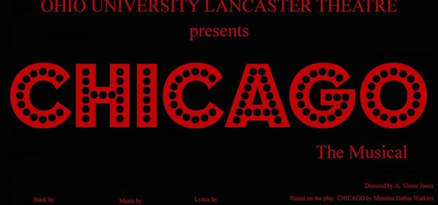 "Ohio University Lancaster Theatre ""Chicago"" poster"