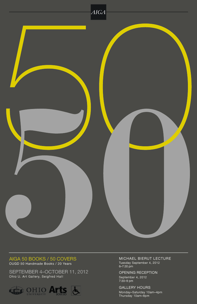 50 Books, 50 Covers exhibit poster