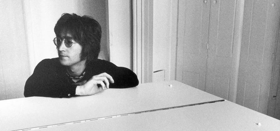 John Lennon at piano