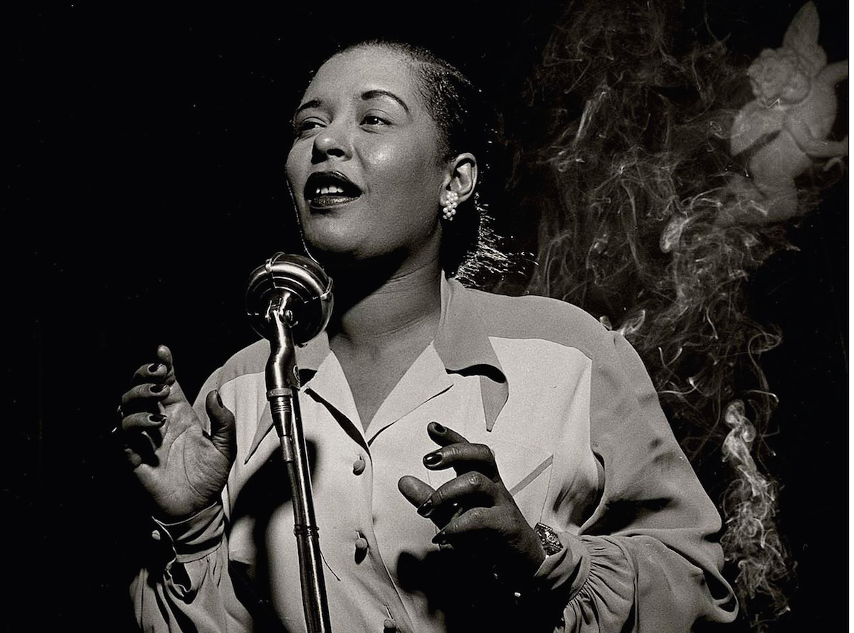 Billie Holliday, photographed by Herman Leonard, 1949