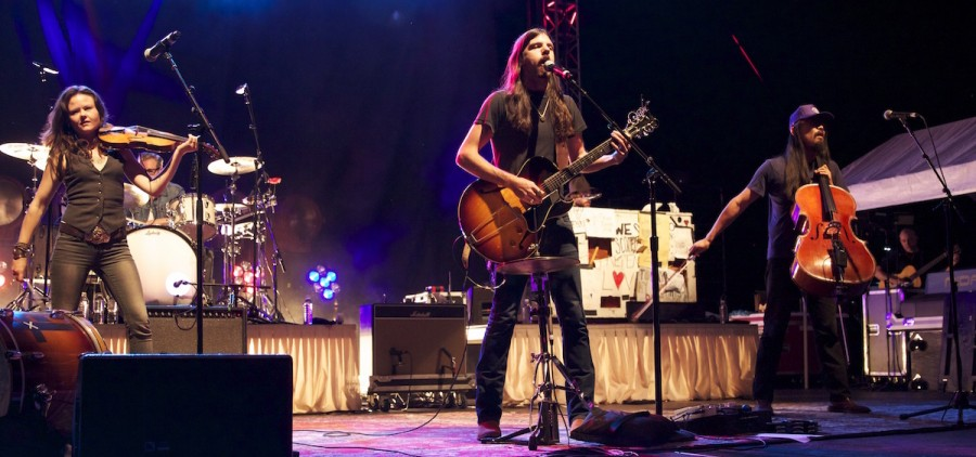 Avett Brothers at 2014 Nelsonville Music Festival (Jasmine Beaubien/WOUB)