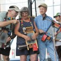 The Washboard Players assist the Buffalo Ridge Jazz Band during a performance. (Leslie Gray/Logan Daily News)