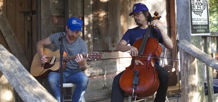 Justin Gordon and Joe Kwon, Gladden House Sessions, 2014 (Jasmine Beaubien/WOUB)