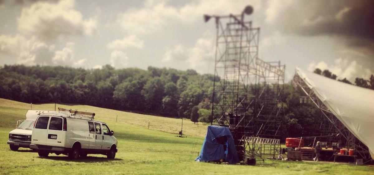 Ohio University Lancaster stage setup