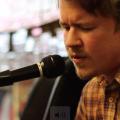 Adam Remnant at Haffa's Records (Marlena Scott/WOUB)