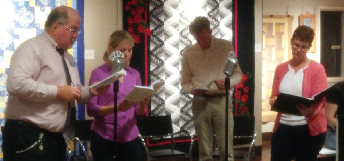 "Garrett Players rehearse ""Vintage Hitchcock"""