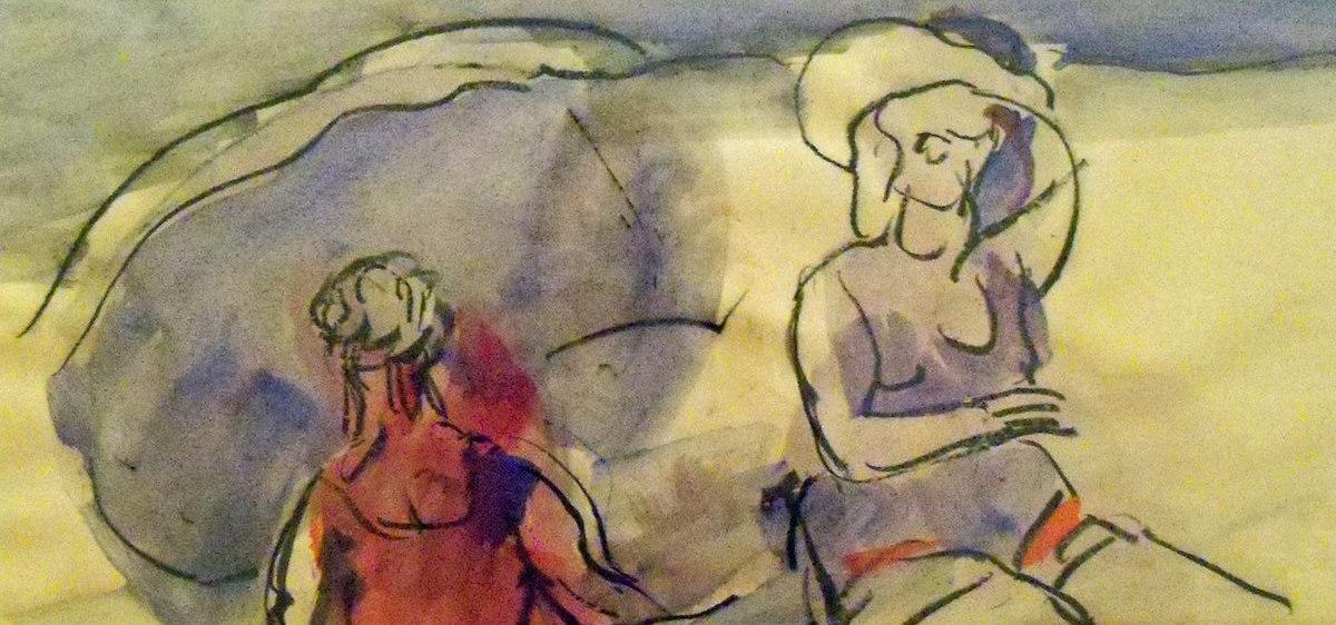 """""""Two Women on a Beach,"""" Robert King, 1940"""