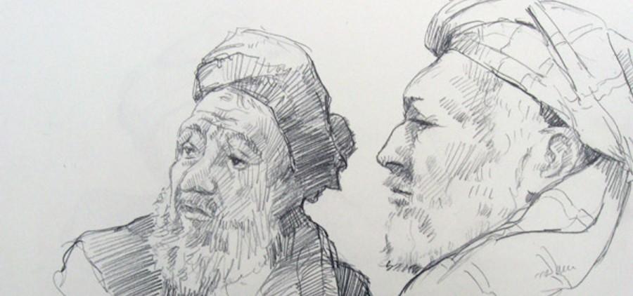 """""""Two Elders,"""" Skip Rohde, 2012"""