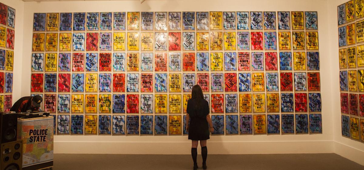 Amos Paul Kennedy, Jr letterpress posters at Kennedy Museum of Art, Ohio University