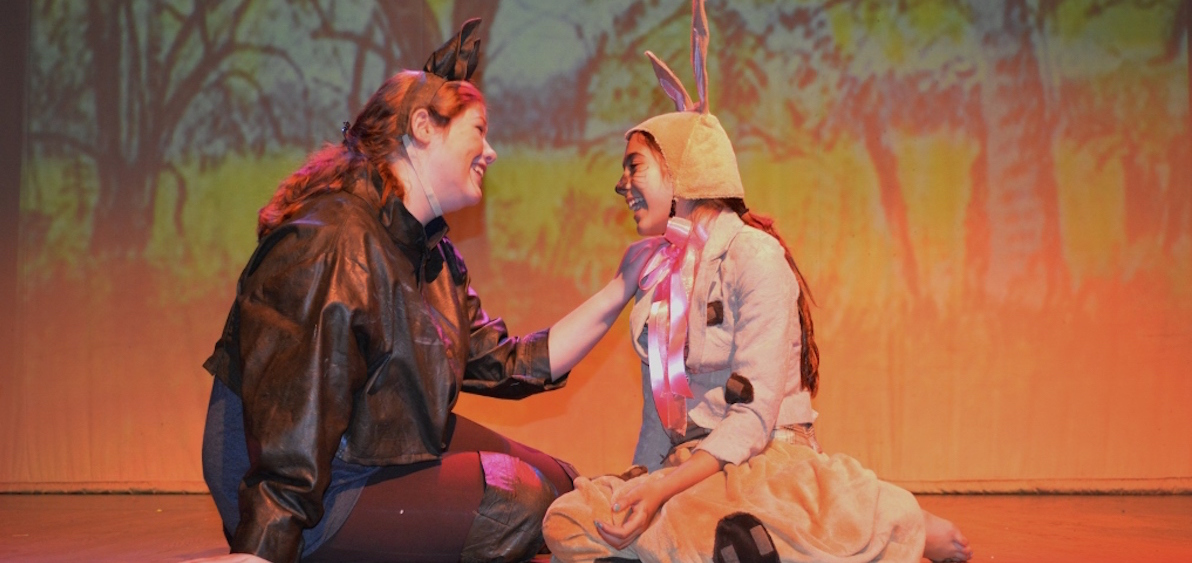 """Rebecca Robinson and Allyriane Huq star in the ABC Players production of """"The Velveteen Rabbit,"""" Dec. 4-6 at Stuart's Opera House (photo provided)"""