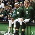 Ohio University sitting basketball players
