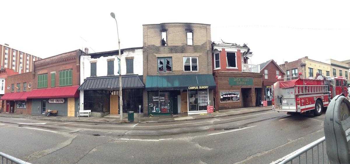 Union Street fire damage