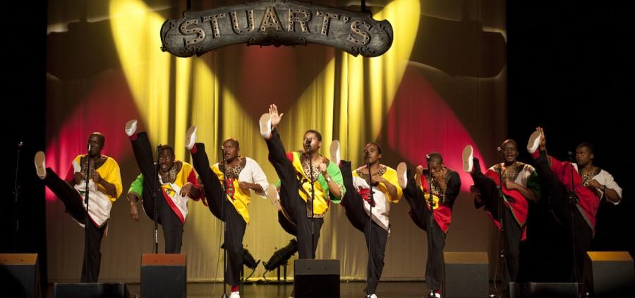Ladysmith Black Mamabazo performs at Stuart's Opera House in Nelsonville, Ohio, Feb. 13, 2015