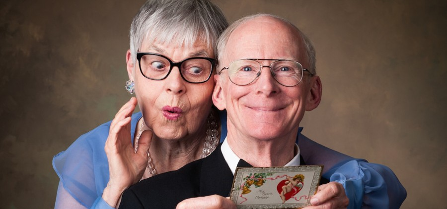 """Ruth Borovicka and Jim Parsons star in """"Love Letters,"""" Feb. 14 at Stuart's Opera House (photo: Morristowne Photography)"""
