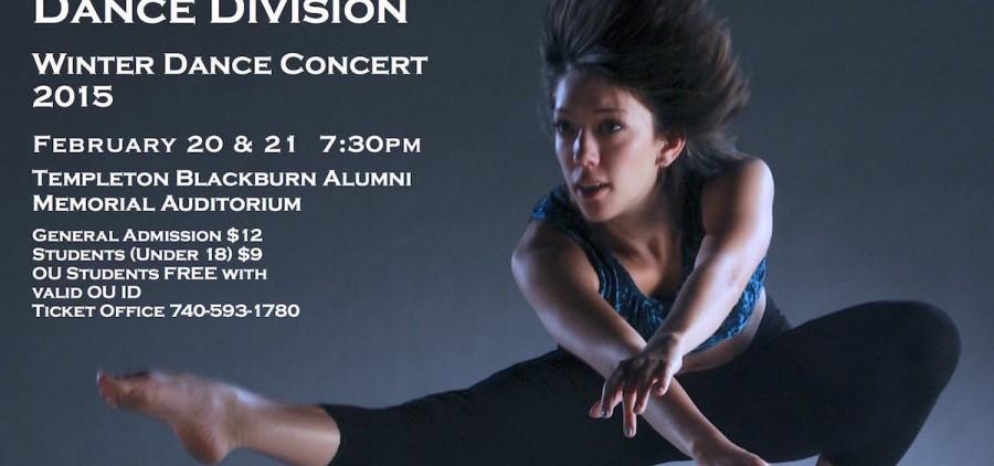 Ohio University 2015 Winter Dance Concert flyer