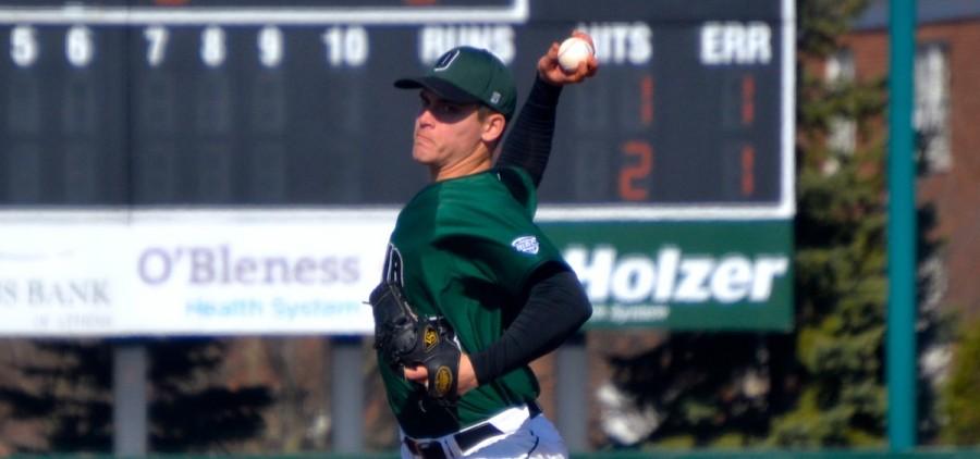 OU baseball Miller pitching