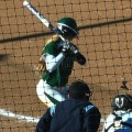 Ohio softball at bat