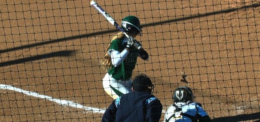 Ohio softball at bat