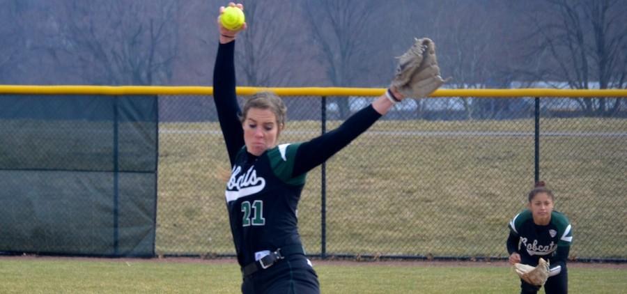 Ohio softball Dorsey pitching