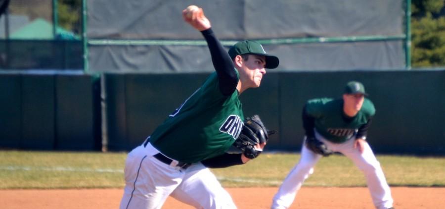 Ohio university jake Miller pitching for Ohio baseball
