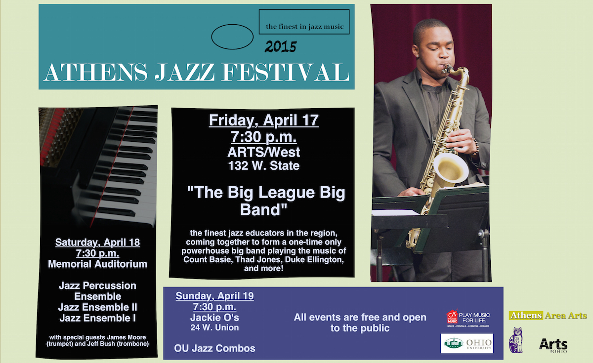 2015 Athens Jazz Festival poster