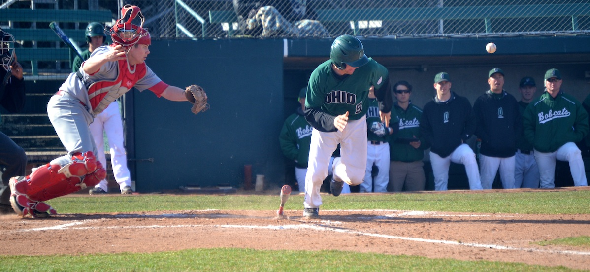 Nick Bredeson Ohio baseball headed to first after making contact