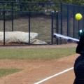 Ohio university Sloan Walker bunting for Ohio softball