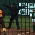 Softball safe at first