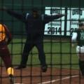 Softball safe at first