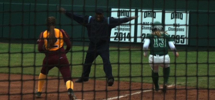 Ohio softball safe at first