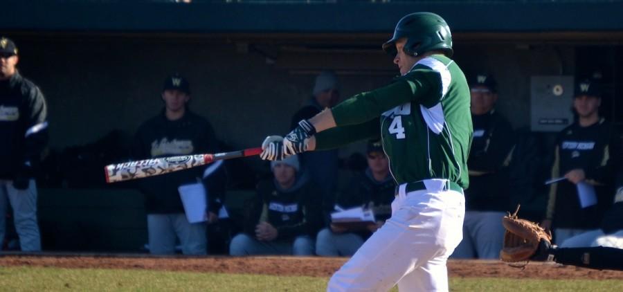 ohio university Tyler Wells batting for Ohio baseball