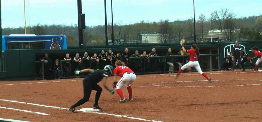softball versus Dayton