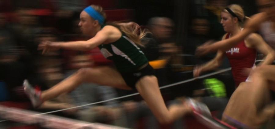 Ohio Univerity women's track hurdles