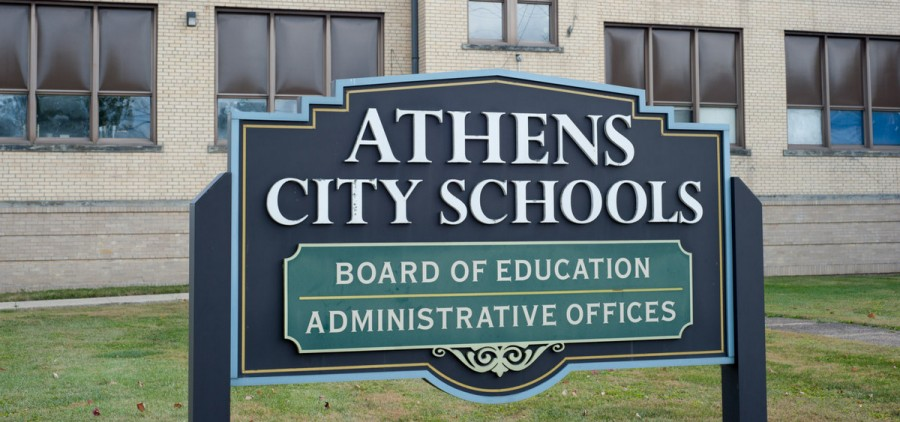 Athens City Schools sign