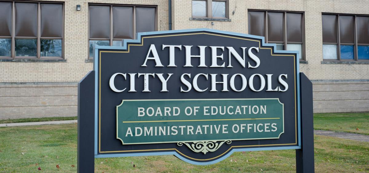 Athens City Schools sign