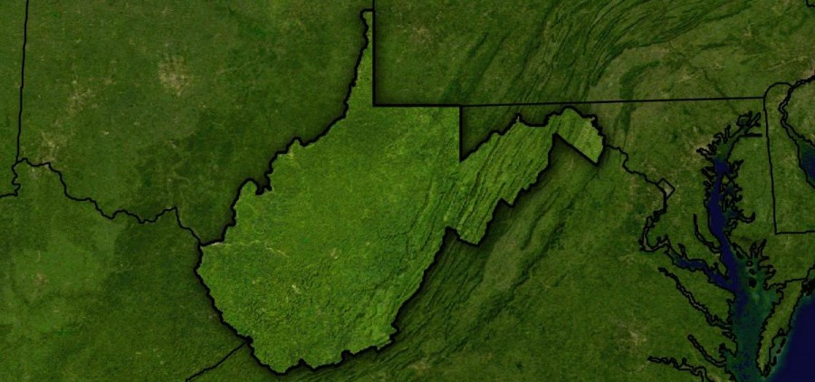 West Virginia on a map