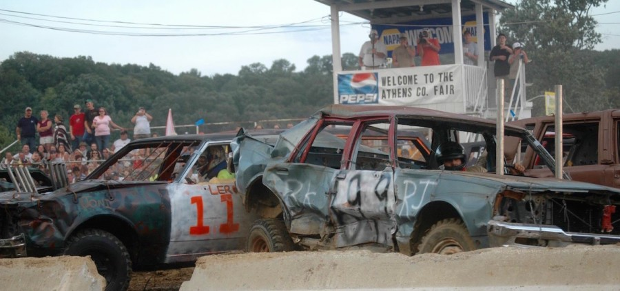 Demolition derby, Athens County Fairgrounds, 2013