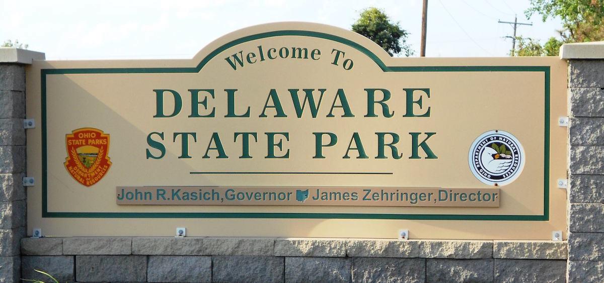 Delaware State Park sign