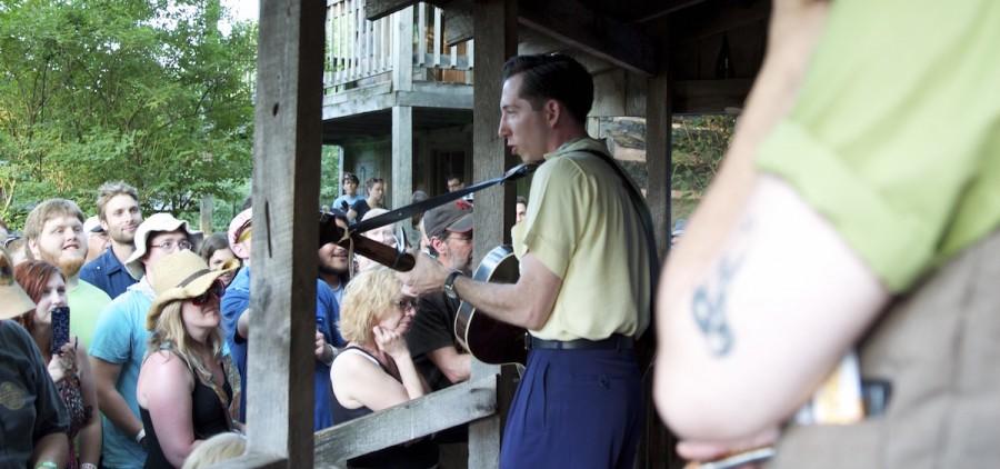 Pokey LaFarge at NMF No-Fi Cabin, 2014 (Jasmine Beaubien/WOUB)