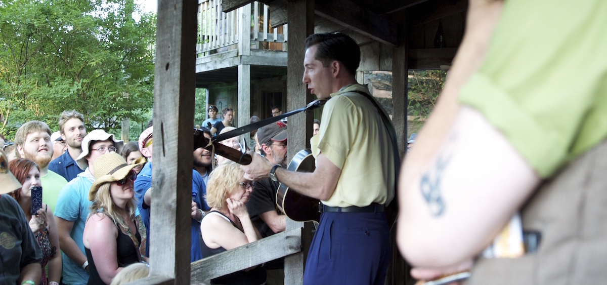 Pokey LaFarge at NMF No-Fi Cabin, 2014 (Jasmine Beaubien/WOUB)