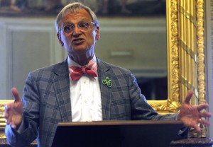 Rep. Earl Blumenauer, D–Ore., argues for increasing the gas tax to provide money for the Highway Trust Fund. Blumenbauer sponsored a bill proposing a 15-cent tax increase over three years. SHFWire photo by Jaelynn Grisso