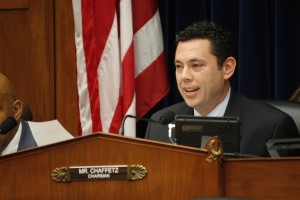 """Rep. Jason Chaffetz, R-Utah, chairman of the House Committee on Oversight and Government Reform, on Wednesday tells OPM Director Katherine Archuleta: """"I think it's time for you to go."""" (Matthew J. Connor)"""