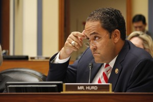 """Rep. Will Hurd, R-Texas, questions OPM Director Katherine Archuleta during a House committee hearing Wednesday. Hurd last week called the hack a sign that """"America is under constant attack."""" (Matthew J. Connor)"""