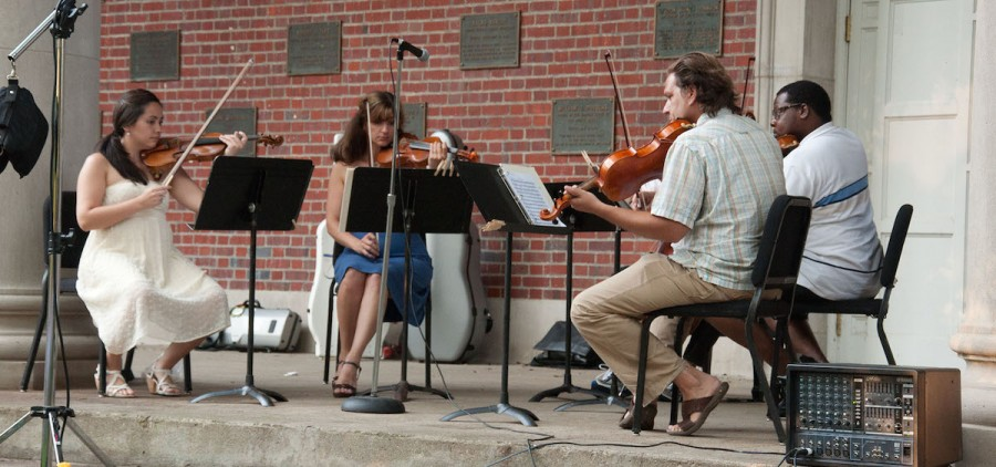 """""""Mozart on the Green"""" musicians perform at an outdoor concert at Ohio University. The annual festival returns June 15. (Ohio University)"""