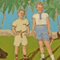 """Florida Beach with Croc,"" Eileen Woods"
