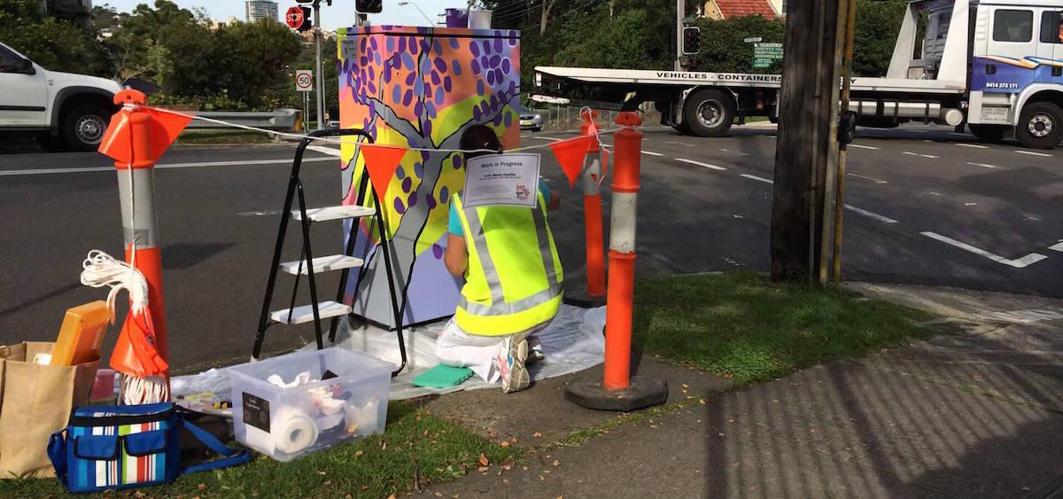 Traffic box painting