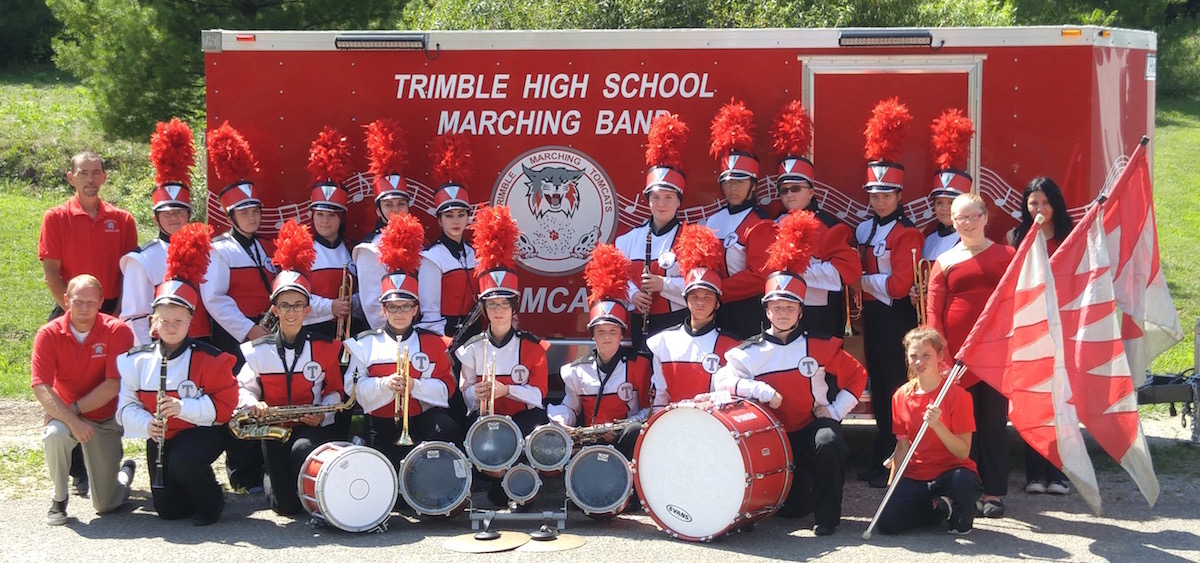 """Loud and Proud,"" a new fundraising effort for the Trimble High School Band, has helped provide new instruments and hats for the 2015 season. (Photo courtesy of Martin Lowery)"