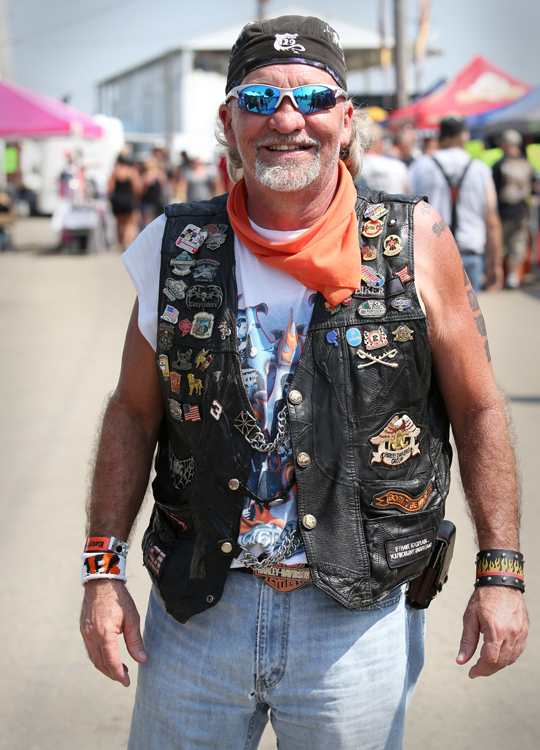 "Rick Brown of Mason, Ohio said this year was his 20th year to attend the  Easyriders Rodeo in Chillicothe, OH. Brown said the best part of the festival continues to be the evenings in the camping area where festival goers put on their own music shows and acts. ""It gets pretty wild,"" said Brown. ""You know, there is a stage back there that somebody set up. It's a lot of fun."""